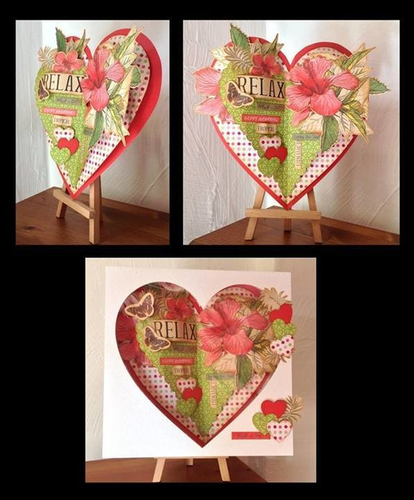 OPEN BOOK HEART SHAPE with box