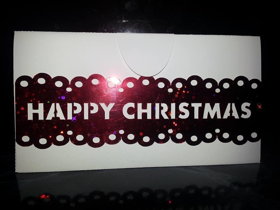 Money Gift Wallet Happy Christmas