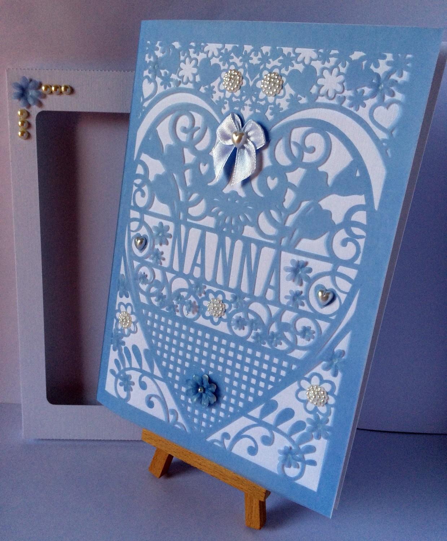 Nanna  Birthday Card (with box)  beautiful cutout design