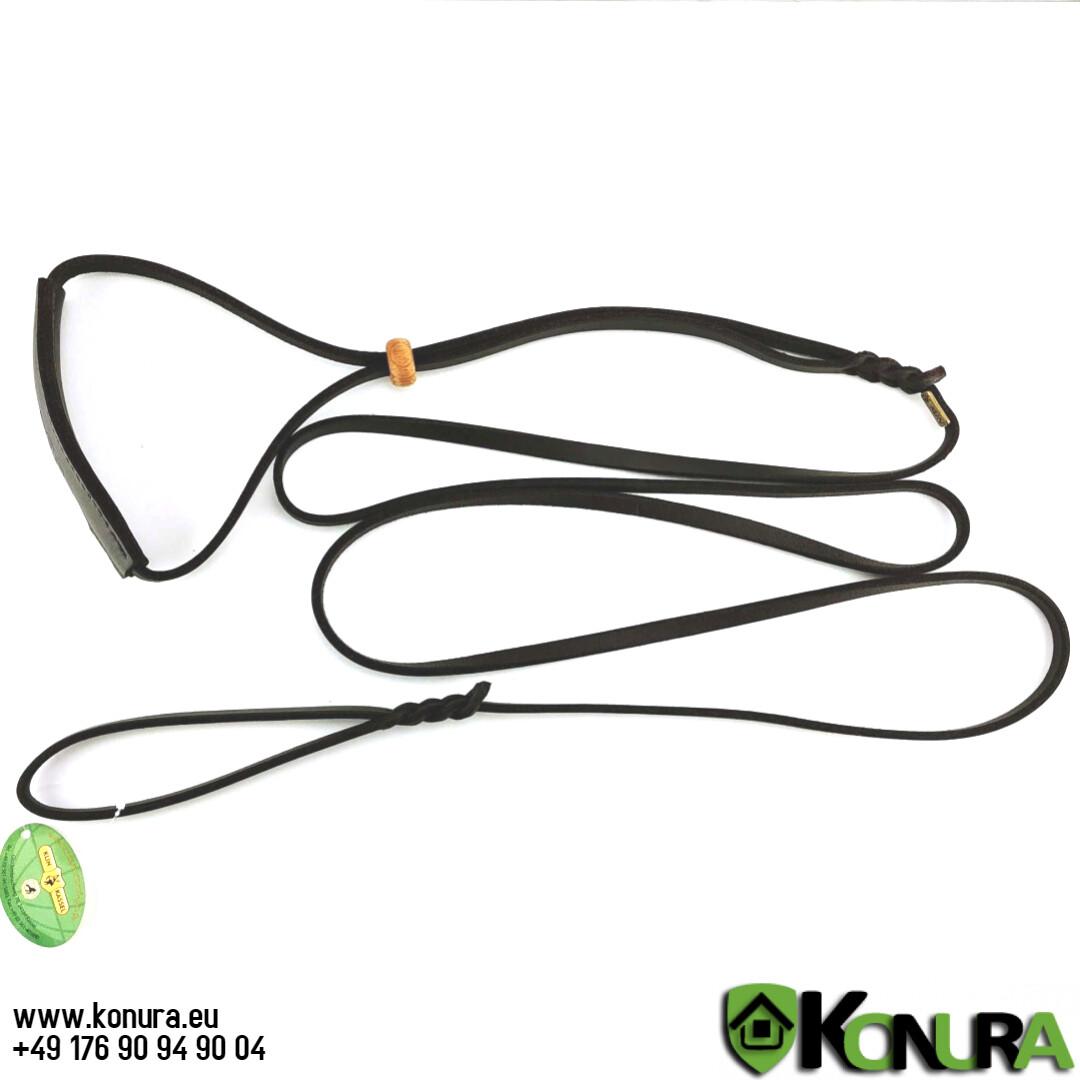 Поводок-ошейник кожаный выставочный с кадыком Klin Kassel
