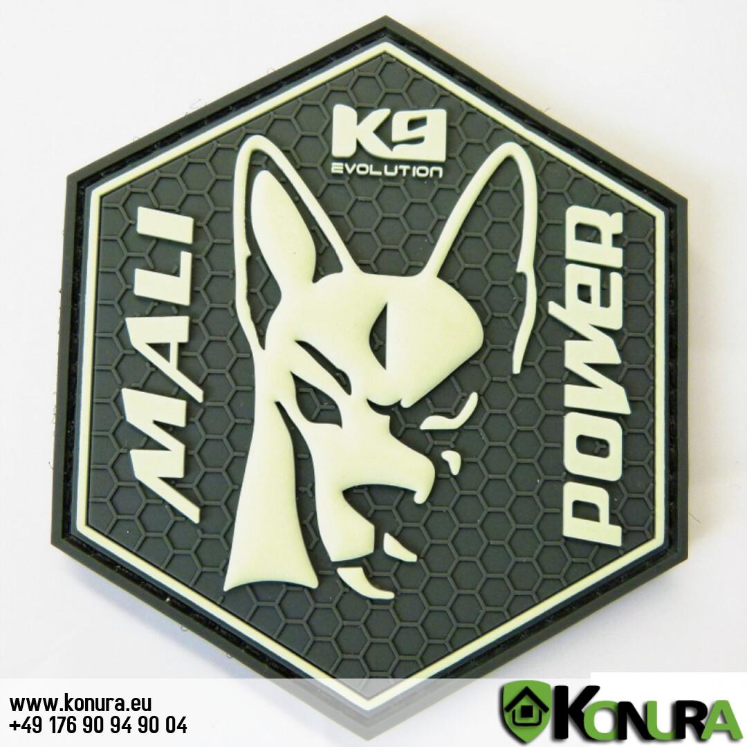Patch GLOWING im Dunkeln MALI-Power 8x9 cm K9-evo