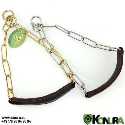 Schauhalsband mit Leder-Kehlkopfschutz Klin Kassel
