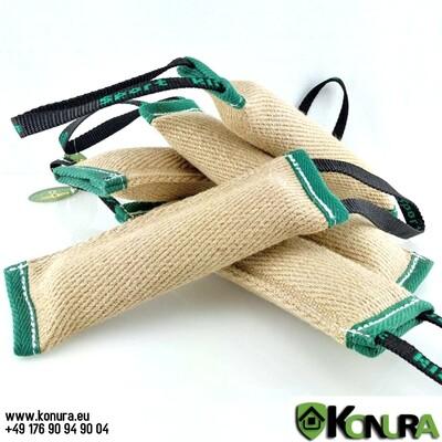 Jute-Beißwülste mit 1 oder 2 Handschlaufe mit und ohne Ton Klin Kassel