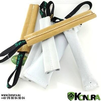 Leder-Beißwülste mit 1 Handschlaufe mit und ohne Ton Klin Kassel