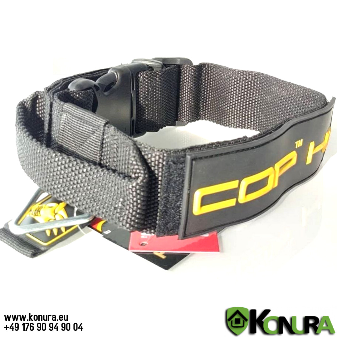 Halsband COP 2.0 aus Kunststoff mit Griff und Spezialschnalle K9-Evolution
