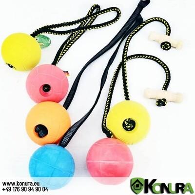 Hundespielzeug Ball SCHWIMMFÄHIG mit verschiedene Handschlaufen Klin Kassel