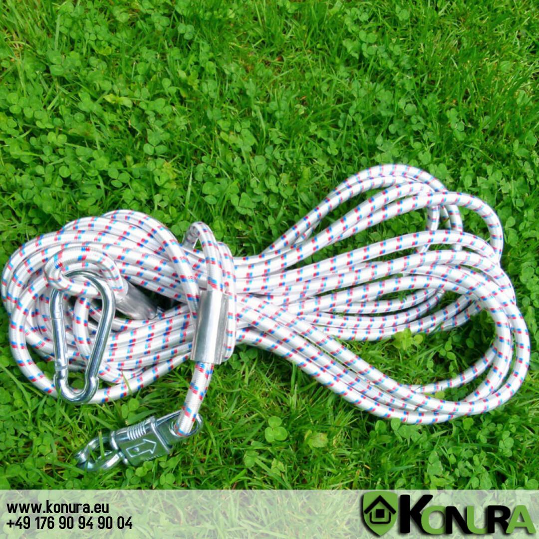 Резиновый шнур для привязи с быстросъемным карабином Schweikert