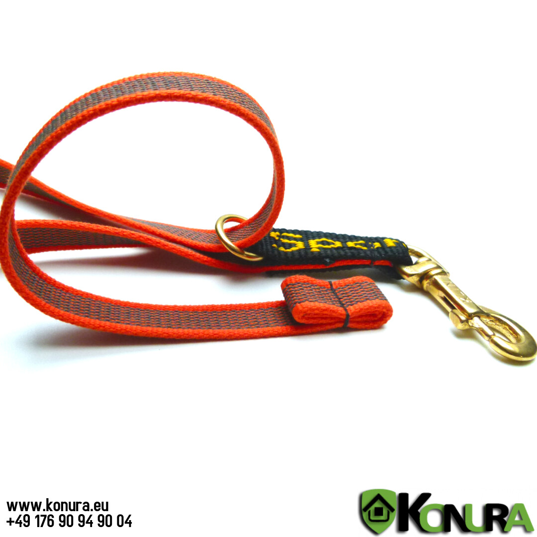 Поводок-водилка 2 в 1 из прорезиненной стропы Klin Kassel