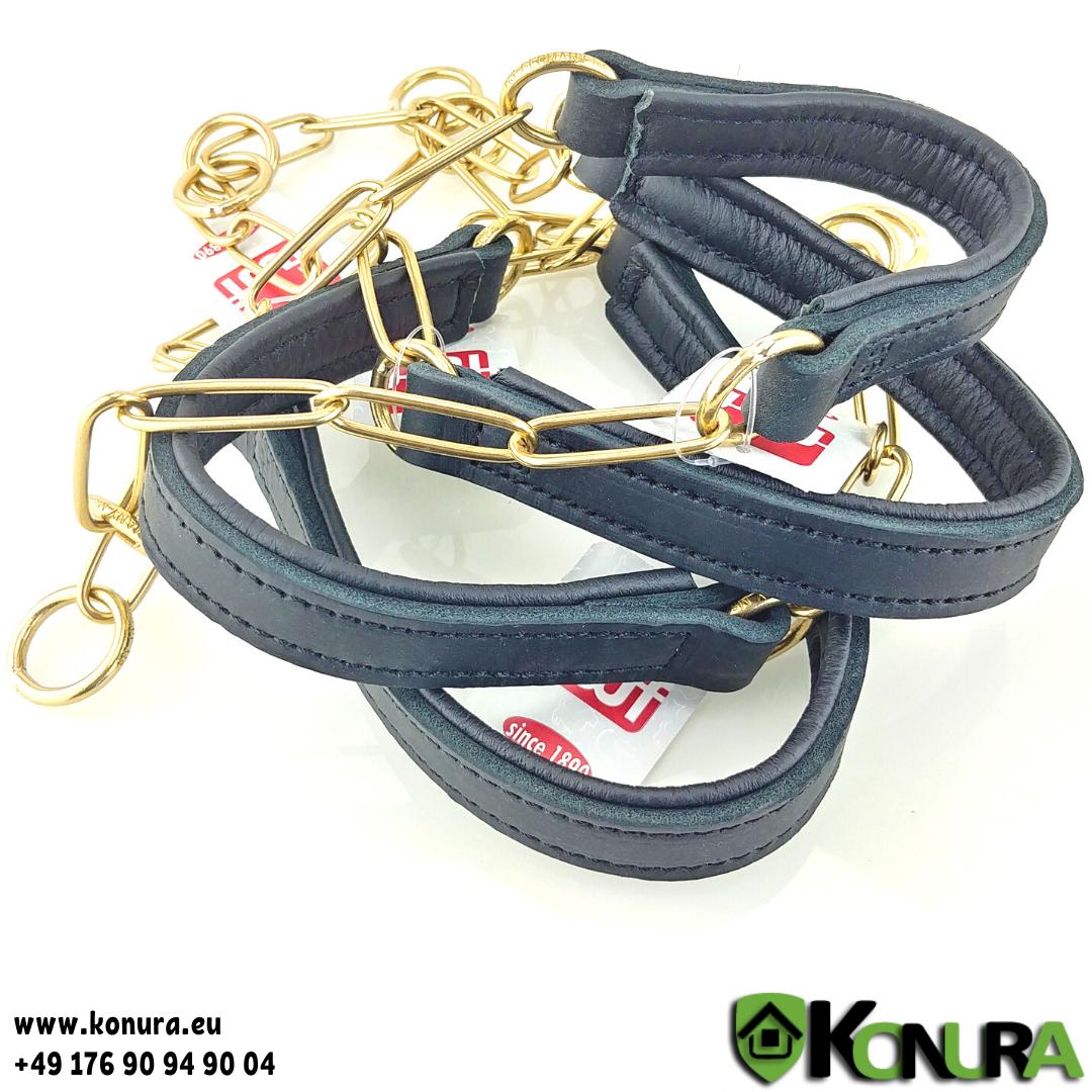 Schauhalsband mit Leder-Kehlkopfschutz fwf