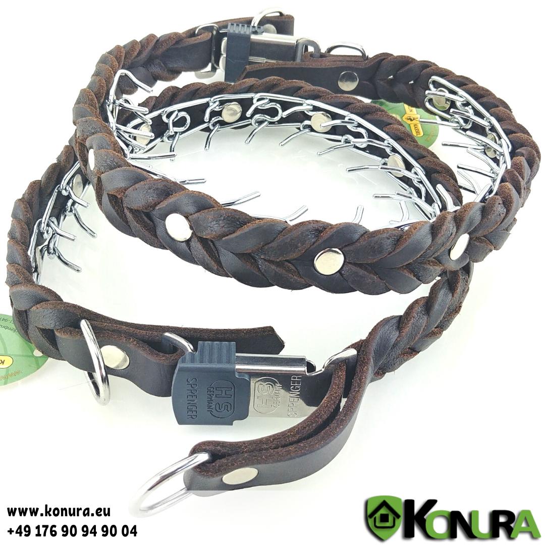 Trainingshalsband aus geflochtenem Leder Klin Kassel