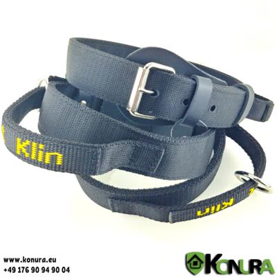 Dreilagiges Nylonhalsband mit Griff Klin Kassel