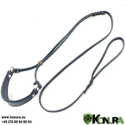 Leder Schauleine mit gepolstertem Halsband ABC Sport Klin