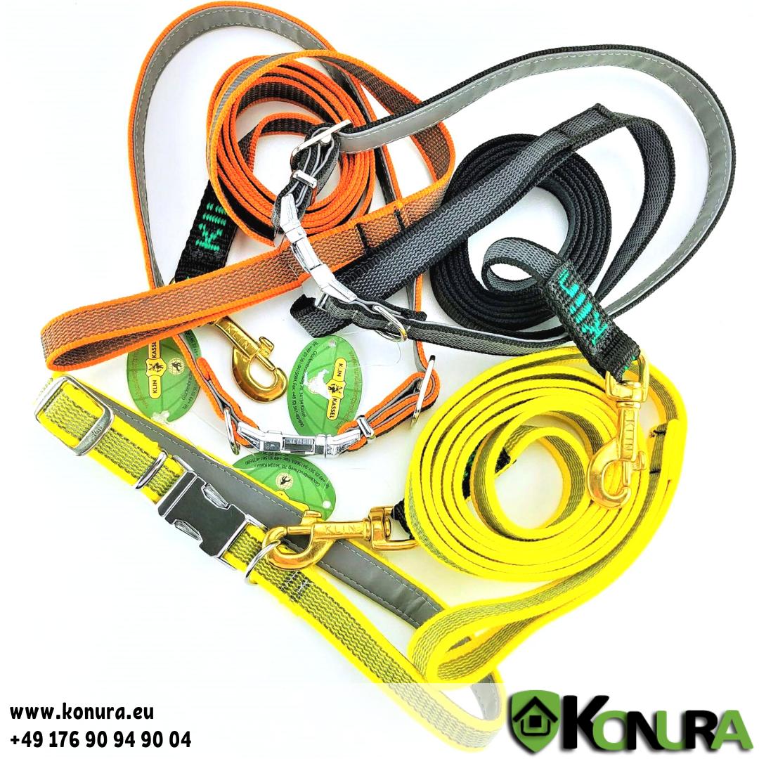 Set: Halsband und Leine aus gummierter Schlinge Klin Kassel