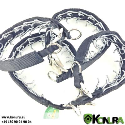 Trainingshalsband mit Steckschloß und Textilüberzug 3.8 mm Klin Kassel