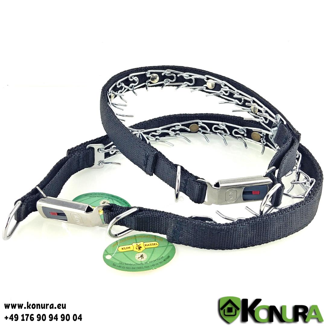 Trainingshalsband mit Steckschloß und Textilüberzug 2.3 mm Klin Kassel