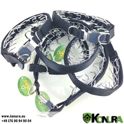 Trainingshalsband mit Steckschloß und Textilüberzug Klin Kassel
