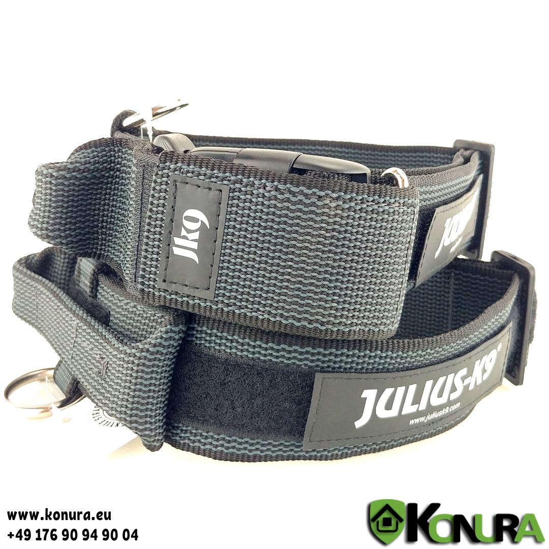 Halsband Kunststoff mit Haltegriff und Klettverschluss Julius-K9