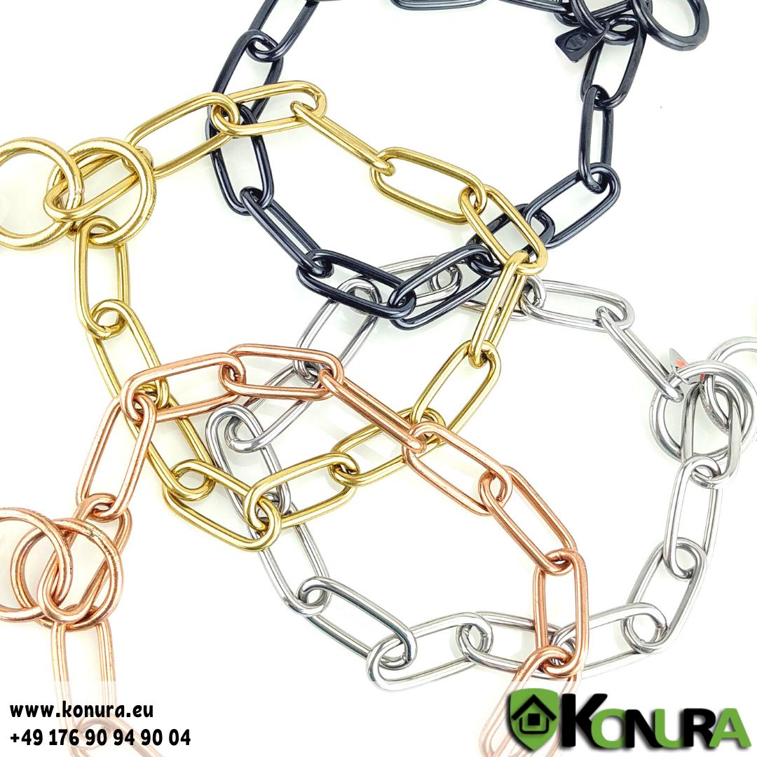 Halskette 4 mm mit einer Gliederlänge von 4 cm Sprenger