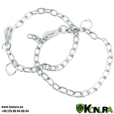 Halskette 3 mm verstellbare mit Karabinerhaken Sprenger