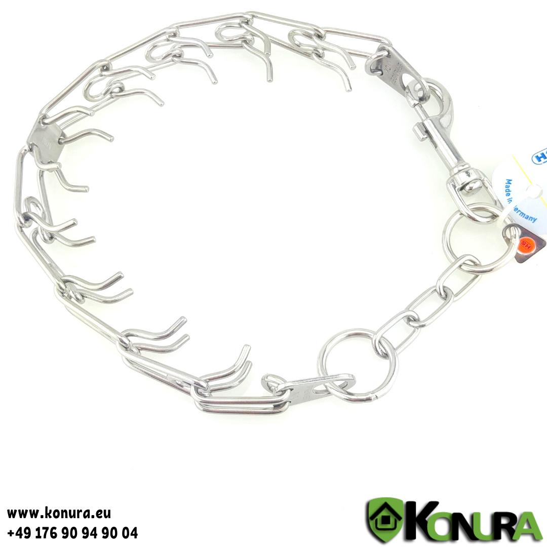 Dressurhalsband ULTRA-PLUS mit verkürzte Kette und Karabinerhaken Sprenger