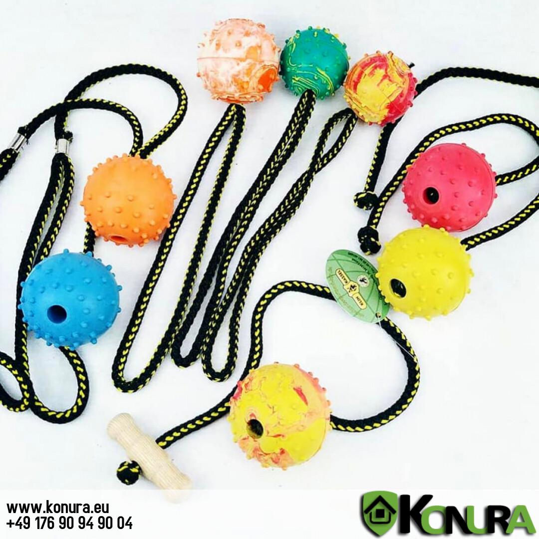 Hundespielzeug Ball mit verschiedene Handschlaufen Klin Kassel