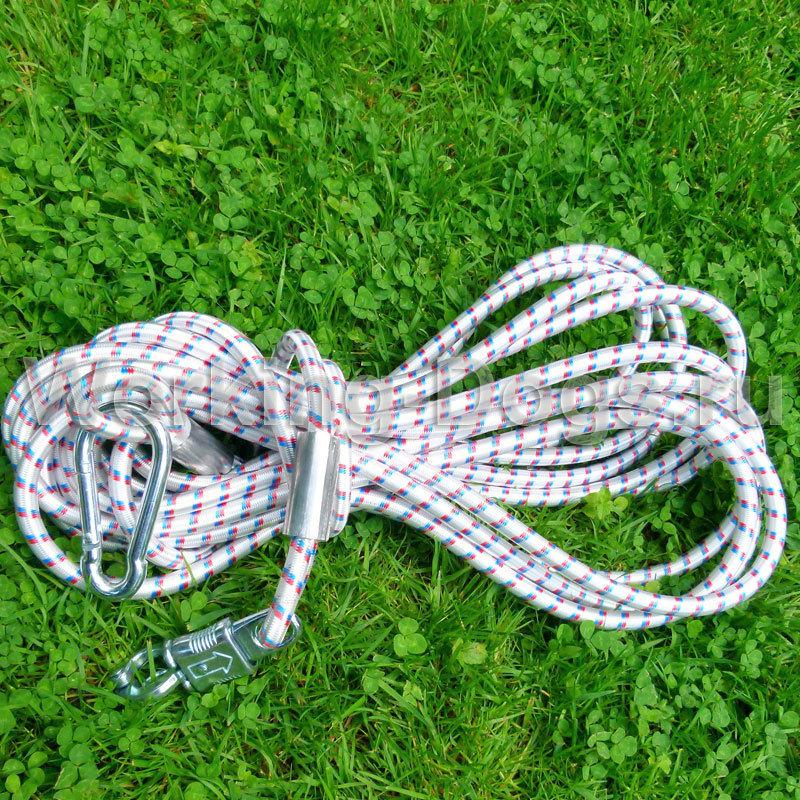 Резиновый шнур для привязи с обыстросъемным карабином Schweikert