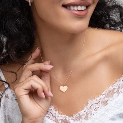 Engraved Silver Heart Necklace Darn I'm Pretty!™