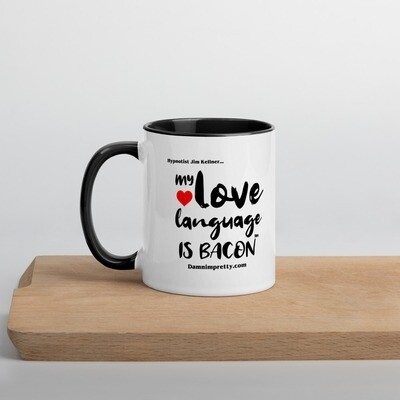 My Love Language is Bacon - Mug with Color Inside