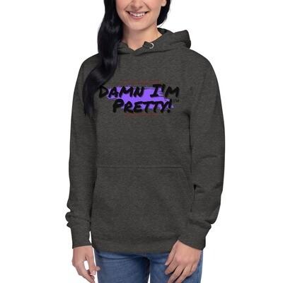 Damn I'm Pretty!™ Unisex Hoodie Purple Splash