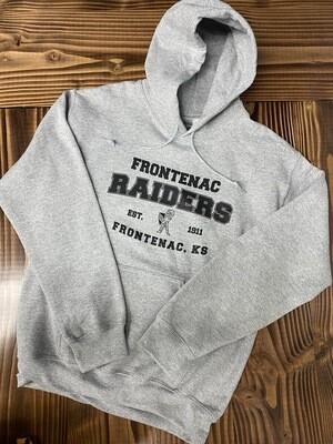 Gray Frontenac Raiders Hoodie