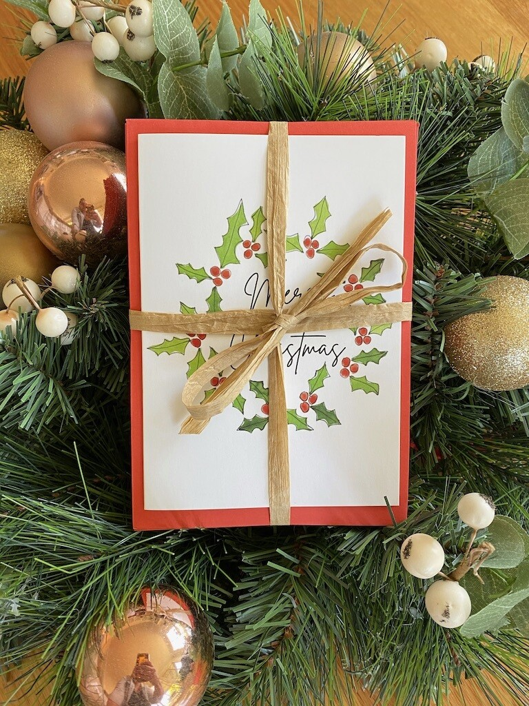 25 x Merry Christmas Cards