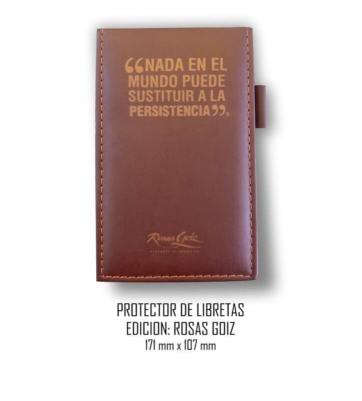 Protector de libretas Edición: Rosas Goiz 119 mm x 70 mm