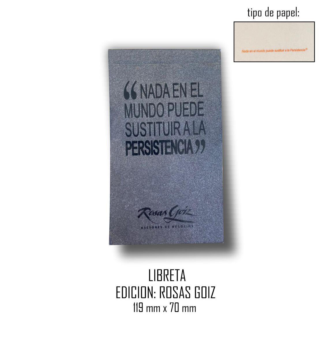 Libreta Edición: Rosas Goiz 119 mm x 70 mm