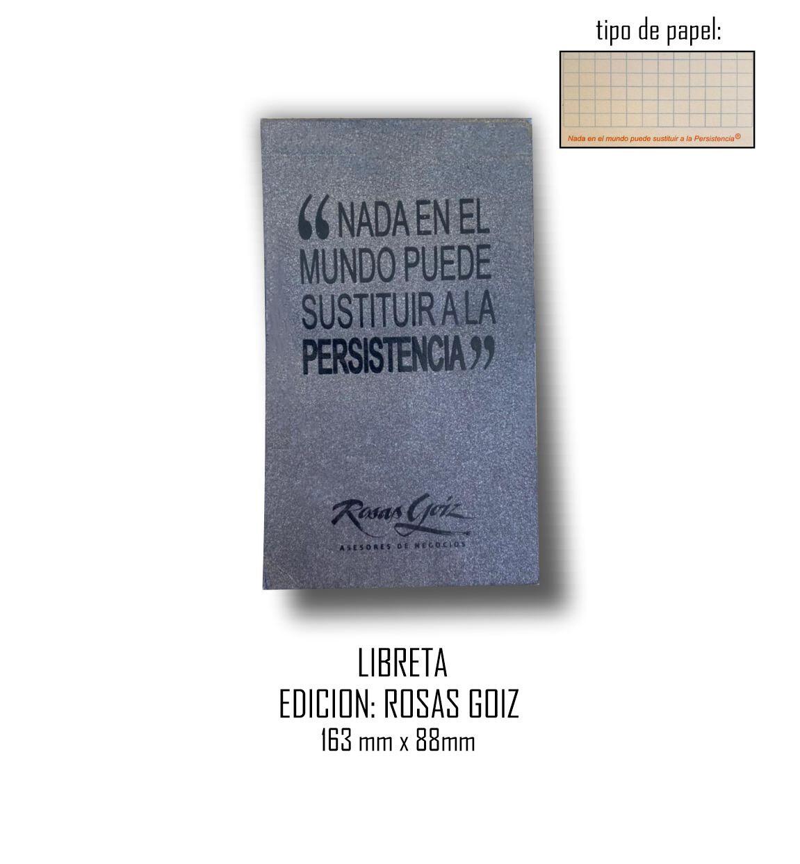 Libreta Edición: Rosas Goiz 163 mm x 88 mm