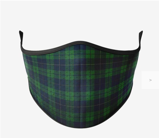 Green Grid Mask