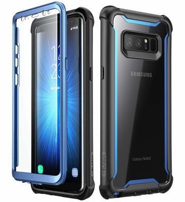 Case Protector Galaxy Note 8 Ares I-blason USA Azul Negro Carcasa 360° para protección de caídas
