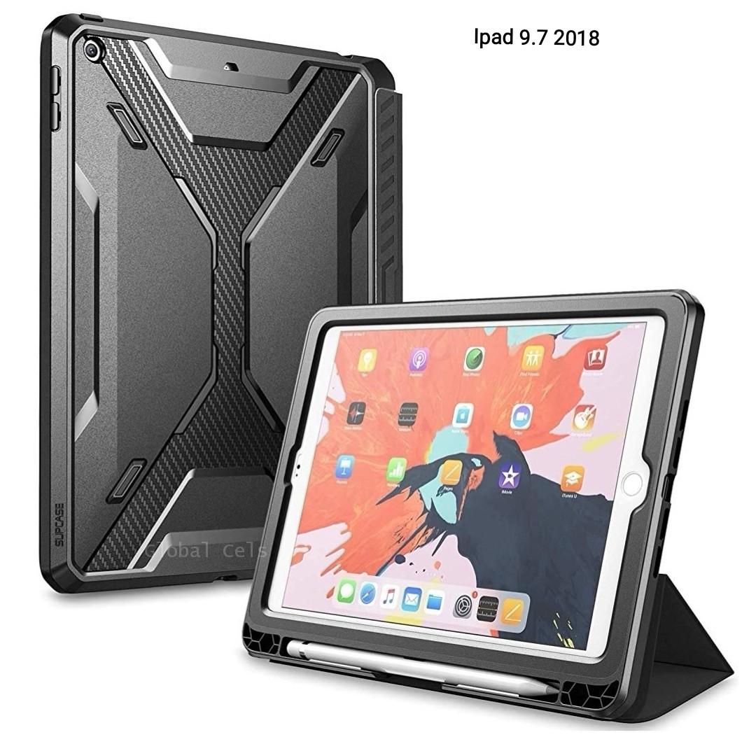 Case Ipad 9,7 2018 Protector Flip Smart Funda 360° c/ Parador