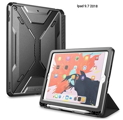 Case Ipad 9,7 2018 Protector Flip Smart Funda 360° c/ Parador