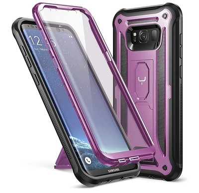 Case Galaxy S8 Plus c/ Parador Morado c/ Mica Integrada