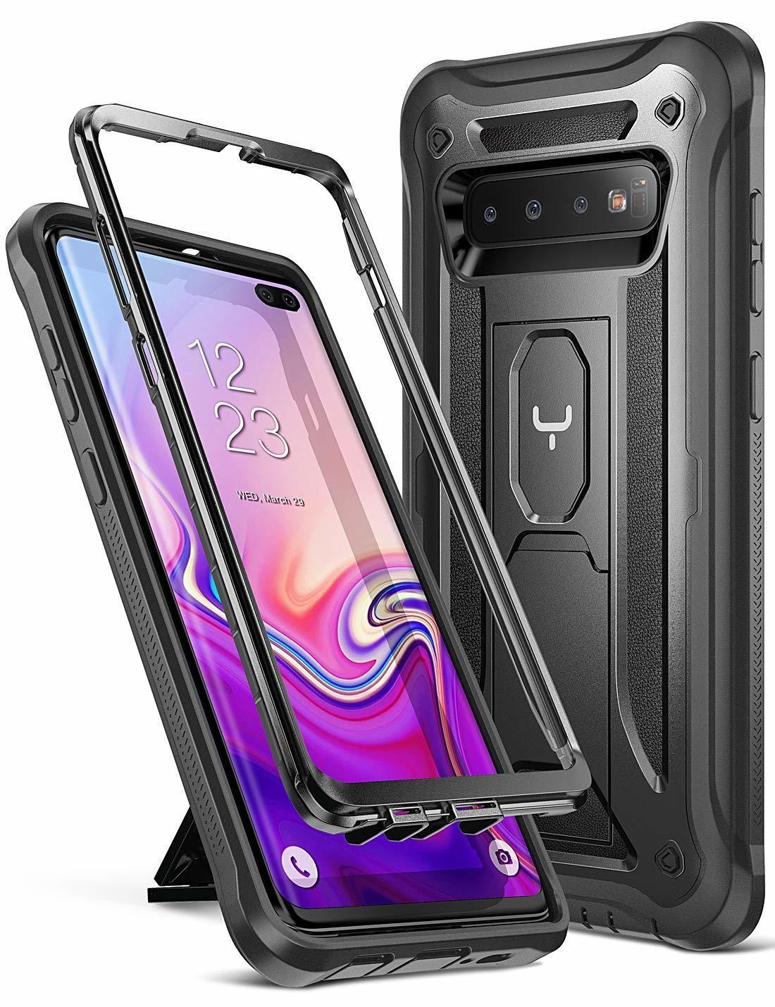 Case Samsung Galaxy S10 Plus 6,4 2019 (sin Mica) c/Parador Funda 360 Negro Total