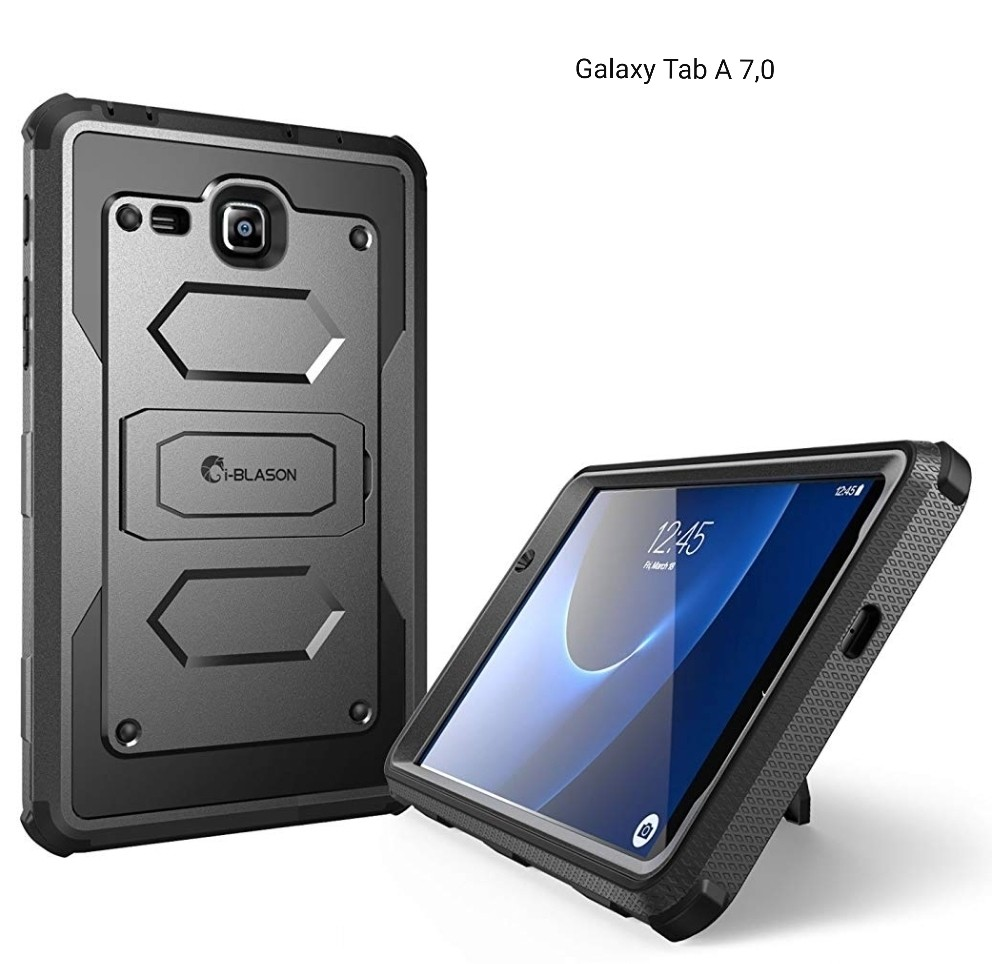 Case Protector Galaxy Tab A 7,0 Alta Protección en Caídas / Parante y Protector de pantalla
