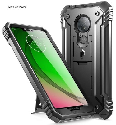 Case Moto G7 POWER Recias Carcasas c/ Mica Integrada c/ Parador Vertical y Horizontal integrado