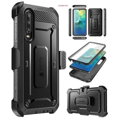 Case Huawei P30 Normal Super Carcasa 360 c/ Mica c/ Tapa Gancho para Correa