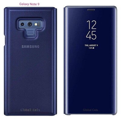 Case Samsung Flip S-wiew GALAXY NOTE 9 Azul 100% Original Interactua a través de la Tapa del Flip
