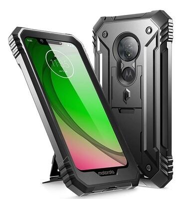 Case Funda Moto G7 Play Super Armor c/ Parante y Protector de pantalla