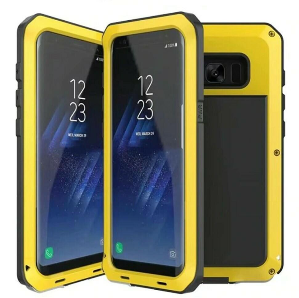 Case Samsung Galaxy Note 8 Metal Protector 360 Armadura Amarillo Negra