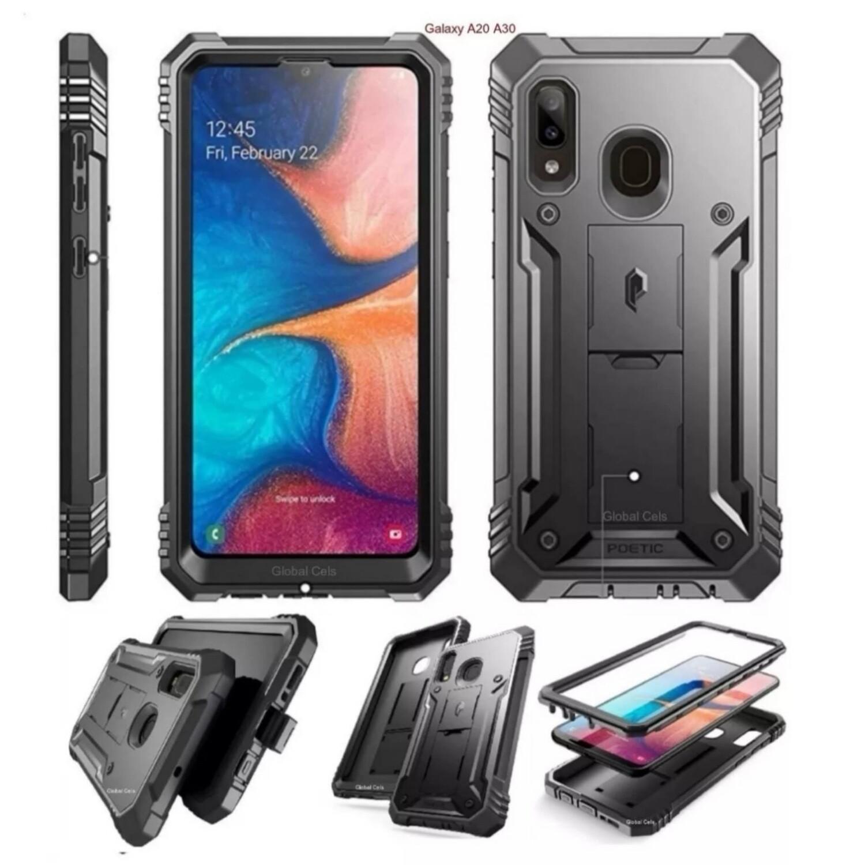 Case Funda Galaxy A20 A30 Super Carcasa c/ Protector de pantalla c/ Parante Premium