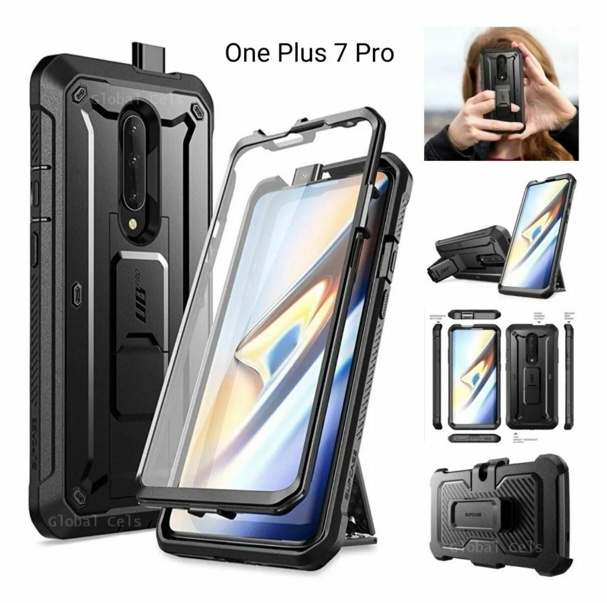 Case Funda OnePlus 7 Pro Protector 360° c/ Parador c/ Gancho