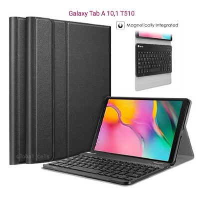 Case c/ Teclado Bluetooth Galaxy Tab A 10,1 T515 T510 2019 Fintie USA - Negro