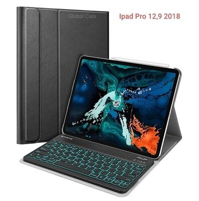 Case c/ Teclado BT Ipad Pro 12,9 2018 Retroiluminado Fintie USA Negro